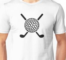 Crossed golf clubs ball Unisex T-Shirt