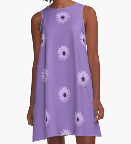Mauve Flower Tee A-Line Dress