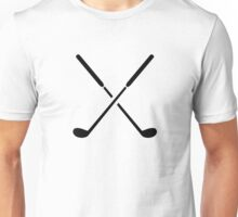 Crossed golf clubs Unisex T-Shirt