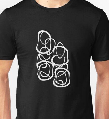 Interlocking - White on Black - Pattern Unisex T-Shirt