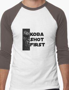 KOBA SHOT FIRST (BLACK LETTER) Men's Baseball ¾ T-Shirt