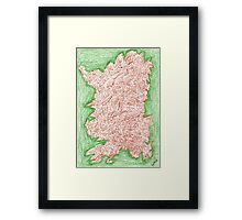 0413 - Dolce Vita in Red and Green Framed Print