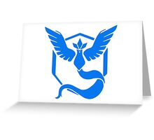 pokemon GO team mystic Greeting Card