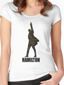 hamilton musical Women's Fitted Scoop T-Shirt