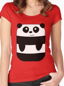 Funny Rectangular Panda Women's Fitted Scoop T-Shirt