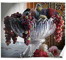 L'elegance du Fruits Faux Poster