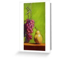 Grapes meet pear Greeting Card