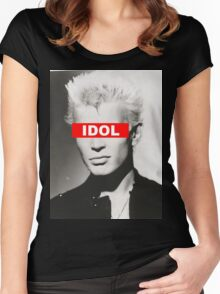 BILLY IDOL - OBEY Women's Fitted Scoop T-Shirt