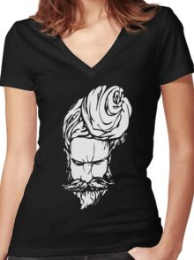 THE SADHU TEE Women's Fitted V-Neck T-Shirt