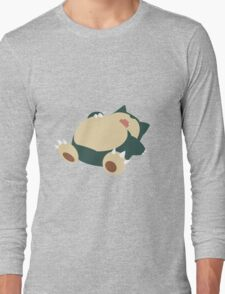 Sleeping Snorlax Long Sleeve T-Shirt