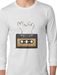 Audio tape retro music Long Sleeve T-Shirt