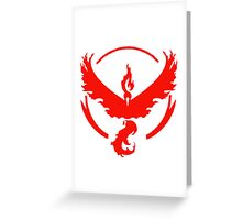 pokemon GO team valor Greeting Card