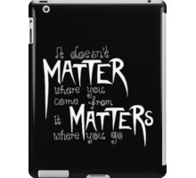 Frank Turner - It Matters... (Black Version) iPad Case/Skin