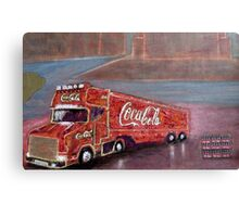 COCACOLA TRUCK Canvas Print
