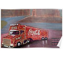 COCACOLA TRUCK Poster