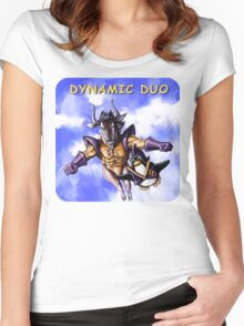 GNU & TUX Dynamic Duo Women's Fitted Scoop T-Shirt