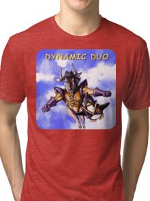 GNU & TUX Dynamic Duo Tri-blend T-Shirt