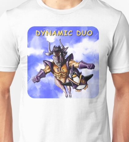 GNU & TUX Dynamic Duo Unisex T-Shirt