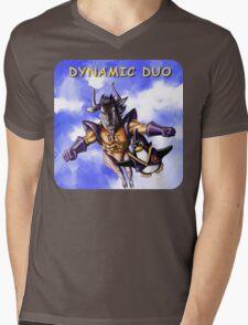 GNU & TUX Dynamic Duo Mens V-Neck T-Shirt