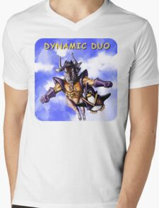 GNU & TUX Dynamic Duo Mens V-Neck T-Shirt
