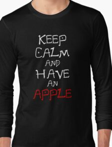 Keep Calm And Have An Apple Anime Manga Shirt Long Sleeve T-Shirt