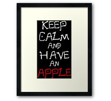 Keep Calm And Have An Apple Anime Manga Shirt Framed Print