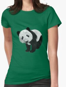 Cute Flully Panda Womens Fitted T-Shirt