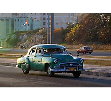 Old American car in La Habana, Cuba Photographic Print