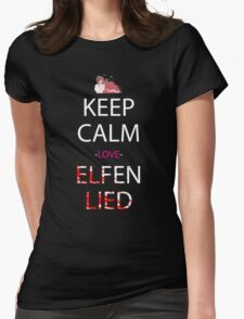 Keep Calm Love Elfen Lied Anime Manga Shirt Womens Fitted T-Shirt