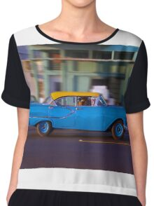 Old American car in La Habana, Cuba Chiffon Top