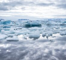 electric ice lagoon Sticker