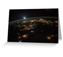 Good Morning From the International Space Station Greeting Card