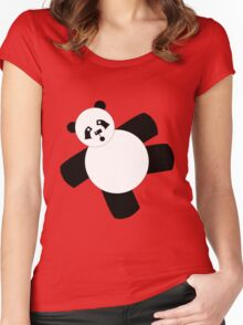 Funny Fat Panda Women's Fitted Scoop T-Shirt