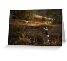 Who let the horse out? Greeting Card