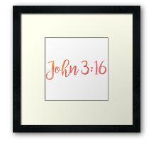 Bible Verse Framed Print