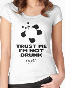 TRUST ME I'M NOT DRUNK (yet) Women's Fitted Scoop T-Shirt