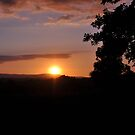 The sun was setting over hills of Tipperary  by Declan Carr