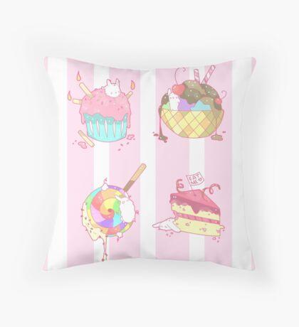 Bunny Desserts Throw Pillow