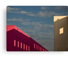 Playful shadows on museum walls Canvas Print