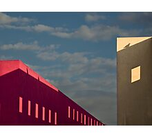 Playful shadows on museum walls Photographic Print