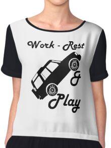 Mars Work Rest Play Land Rover (Parody) Chiffon Top