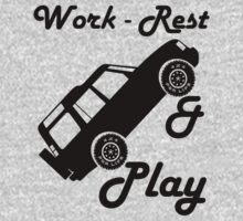 Mars Work Rest Play Land Rover (Parody) One Piece - Short Sleeve