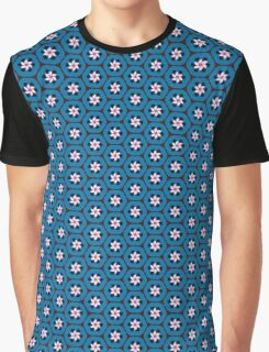 Bluefruit Retro Crescent Flower Graphic T-Shirt