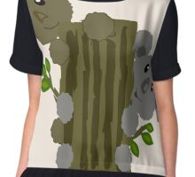 cute koala and bear on the tree Chiffon Top