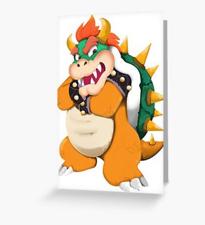 Bowser King Koopa Greeting Card