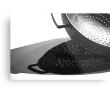 Kitchen Colander Shadows & Light Metal Print