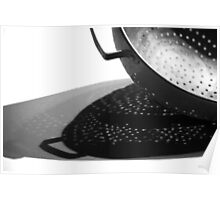Kitchen Colander Shadows & Light Poster