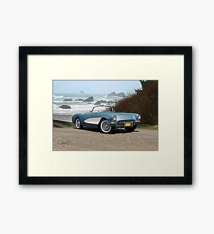 1956 Chevrolet Corvette Convertible 'Pacific Coast' Framed Print