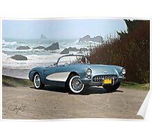 1956 Chevrolet Corvette Convertible 'Pacific Coast' Poster