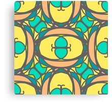 pattern with mosaic ornaments Canvas Print